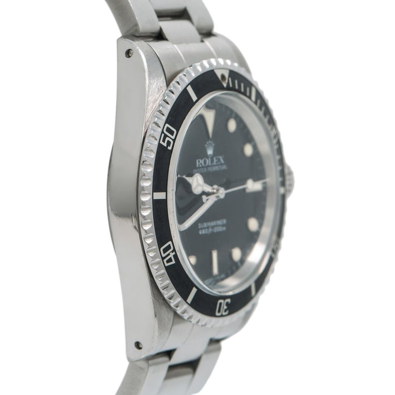 Rolex Submariner 5513, Case, Certified and Warranty In Good Condition For Sale In Miami, FL