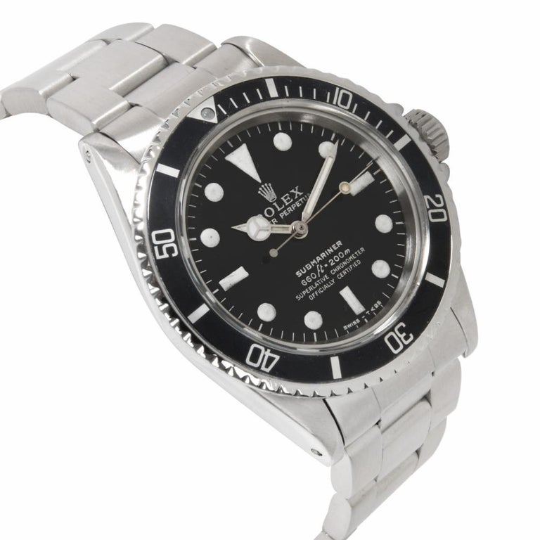 Contemporary Rolex Submariner 5513, Black Dial, Certified and Warranty For Sale