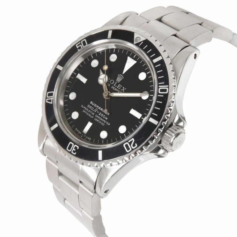 Rolex Submariner 5513, Black Dial, Certified and Warranty In Excellent Condition For Sale In Miami, FL