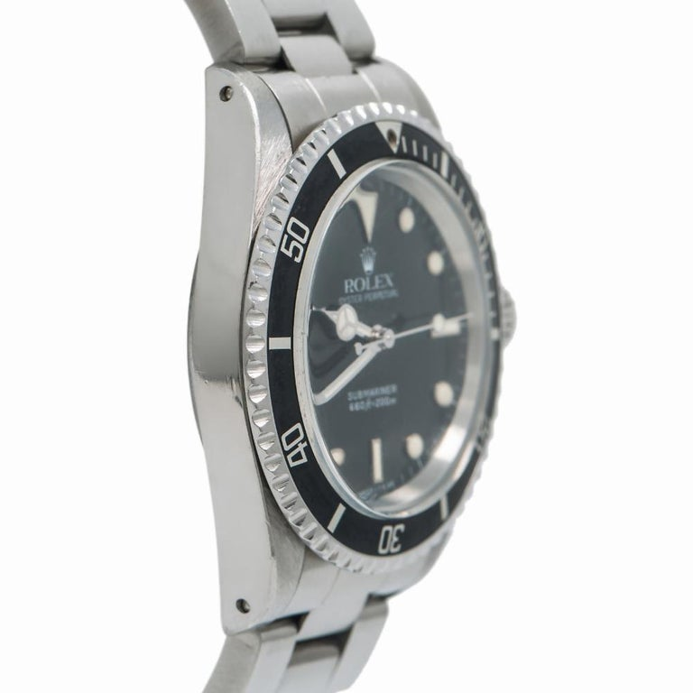 Rolex Submariner 5513, Black Dial, Certified and Warranty In Good Condition For Sale In Miami, FL