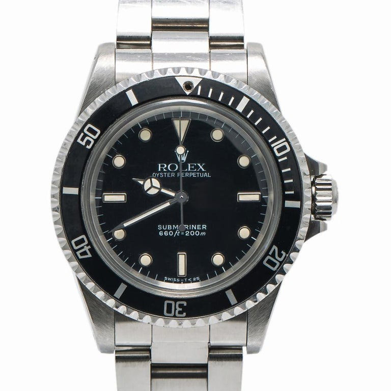 Men's Rolex Submariner 5513, Black Dial, Certified and Warranty For Sale