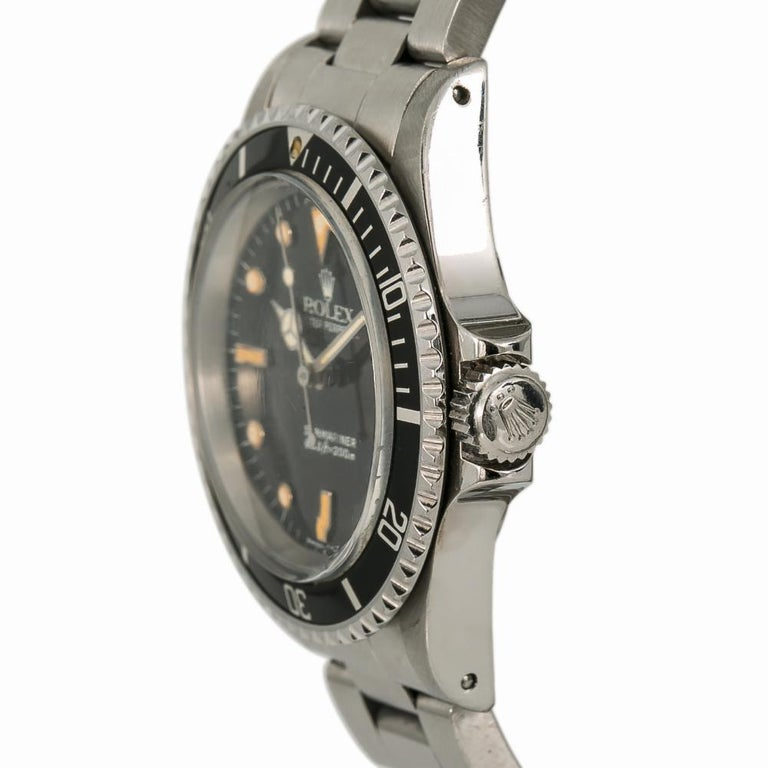 Rolex Submariner 5513, Black Dial, Certified and Warranty 1