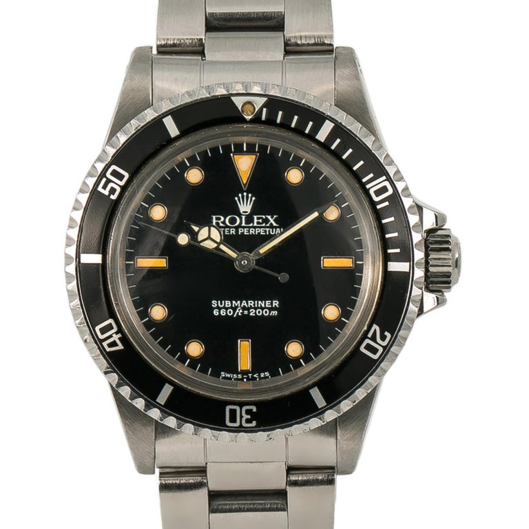 Men's Rolex Submariner 5513, Case, Certified and Warranty For Sale