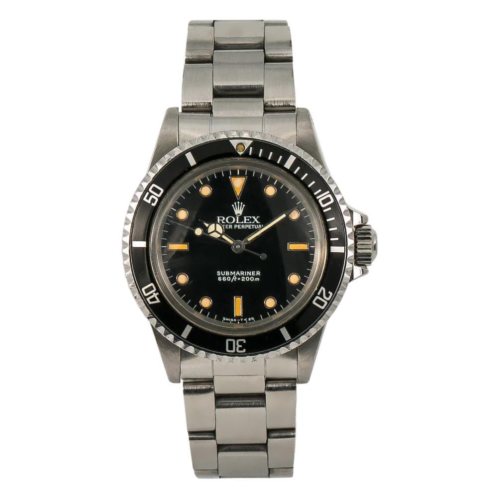 Rolex Submariner 5513, Beige Dial, Certified and Warranty