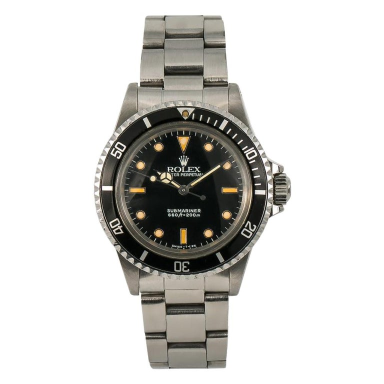 Rolex Submariner 5513, Beige Dial, Certified and Warranty For Sale