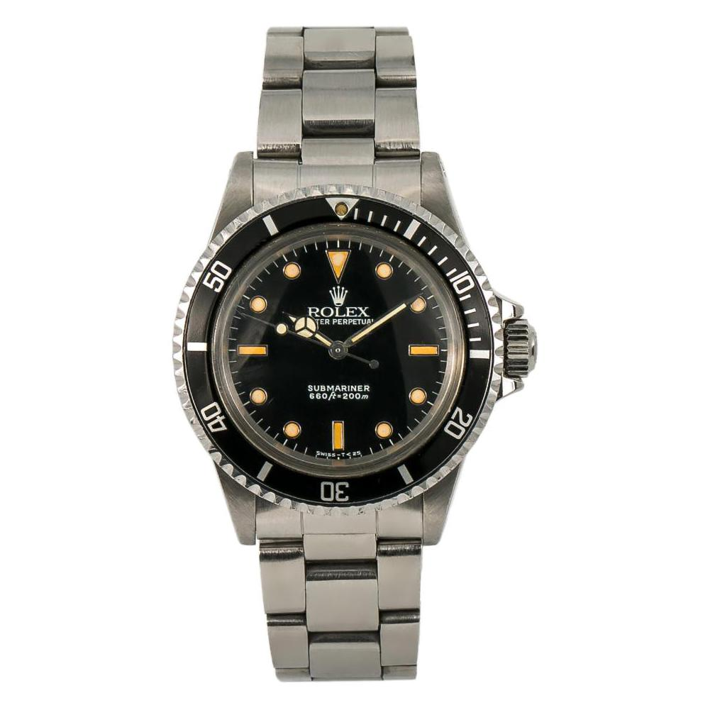 Rolex Submariner 5513, Black Dial, Certified and Warranty