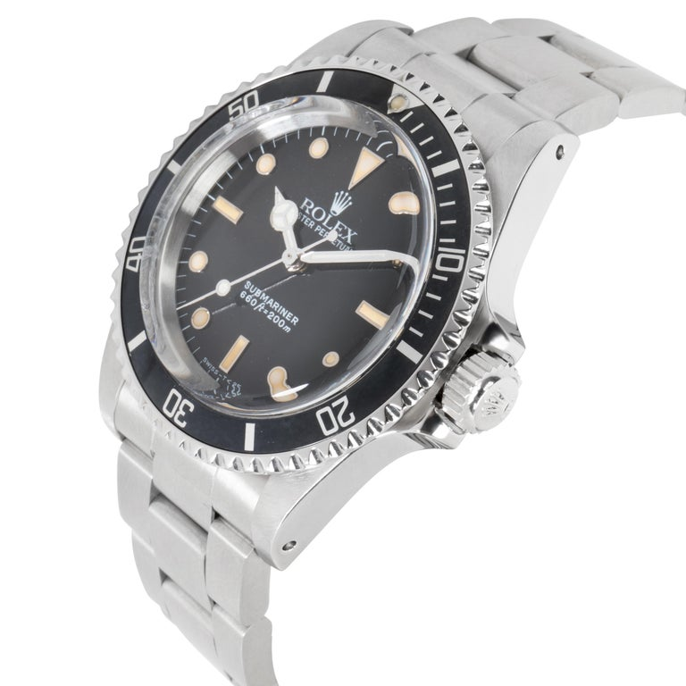 Rolex Submariner 5513 Men's Watch in Stainless Steel In Excellent Condition For Sale In New York, NY