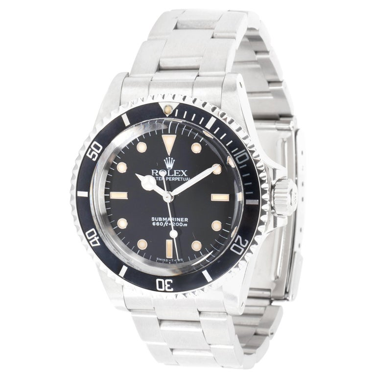 Rolex Submariner 5513 Men's Watch in Stainless Steel For Sale