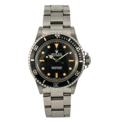 Rolex Submariner 5513, Silver Dial, Certified and Warranty