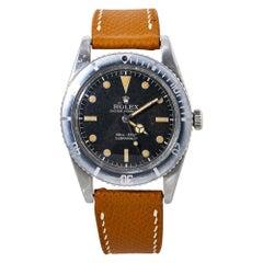 Rolex Submariner 6536/1 No Crown Guard Watch with Original Box&Paper