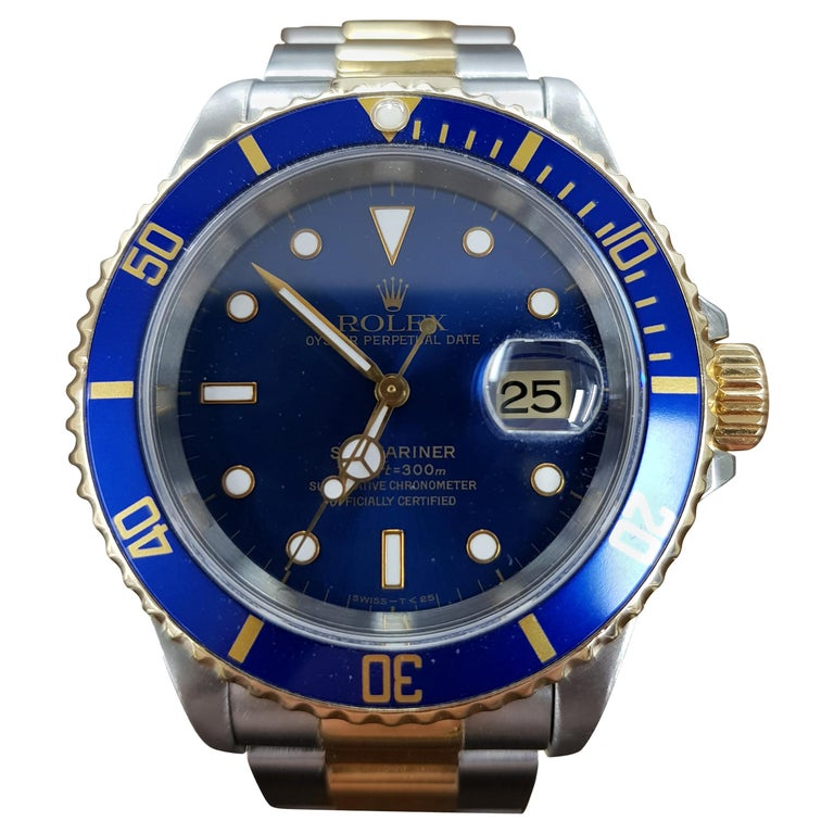 Rolex Submariner, Bi-Metal, Model Number 16613, Registered 1994 For Sale