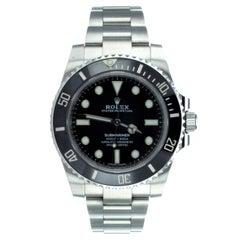 Rolex Submariner Black Bezel Wrist Watch Ref 114060