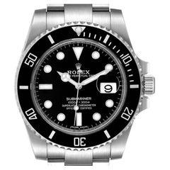 Rolex Submariner Black Dial Ceramic Bezel Steel Mens Watch 116610 Unworn