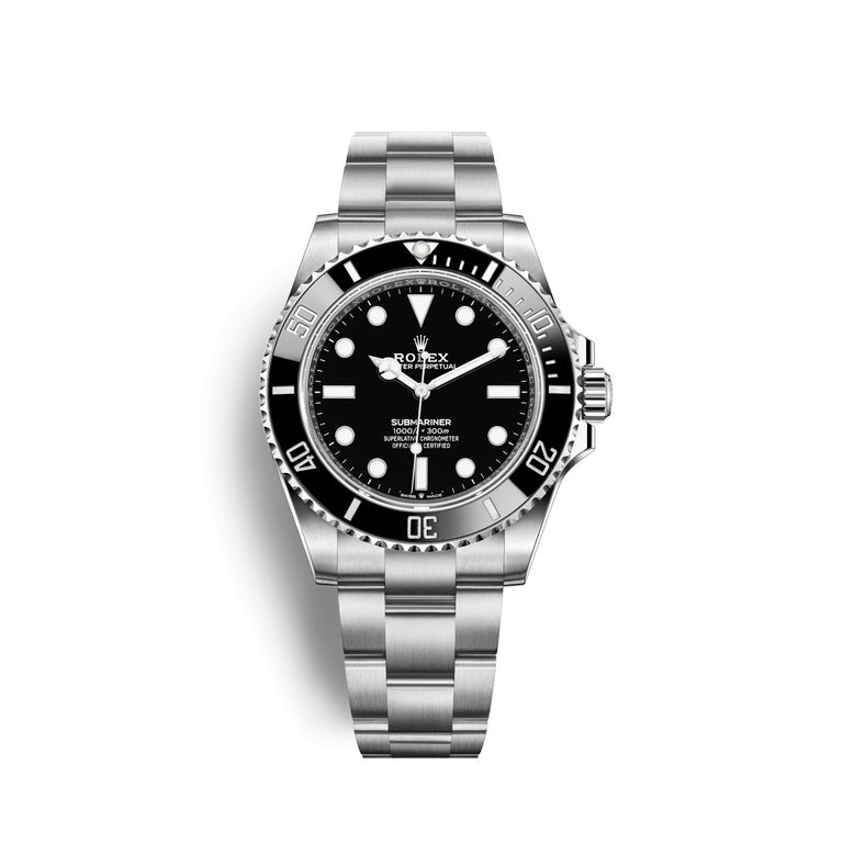Rolex Submariner Black Dial Men's Diving Watch 124060-0001 In New Condition For Sale In Wilmington, DE