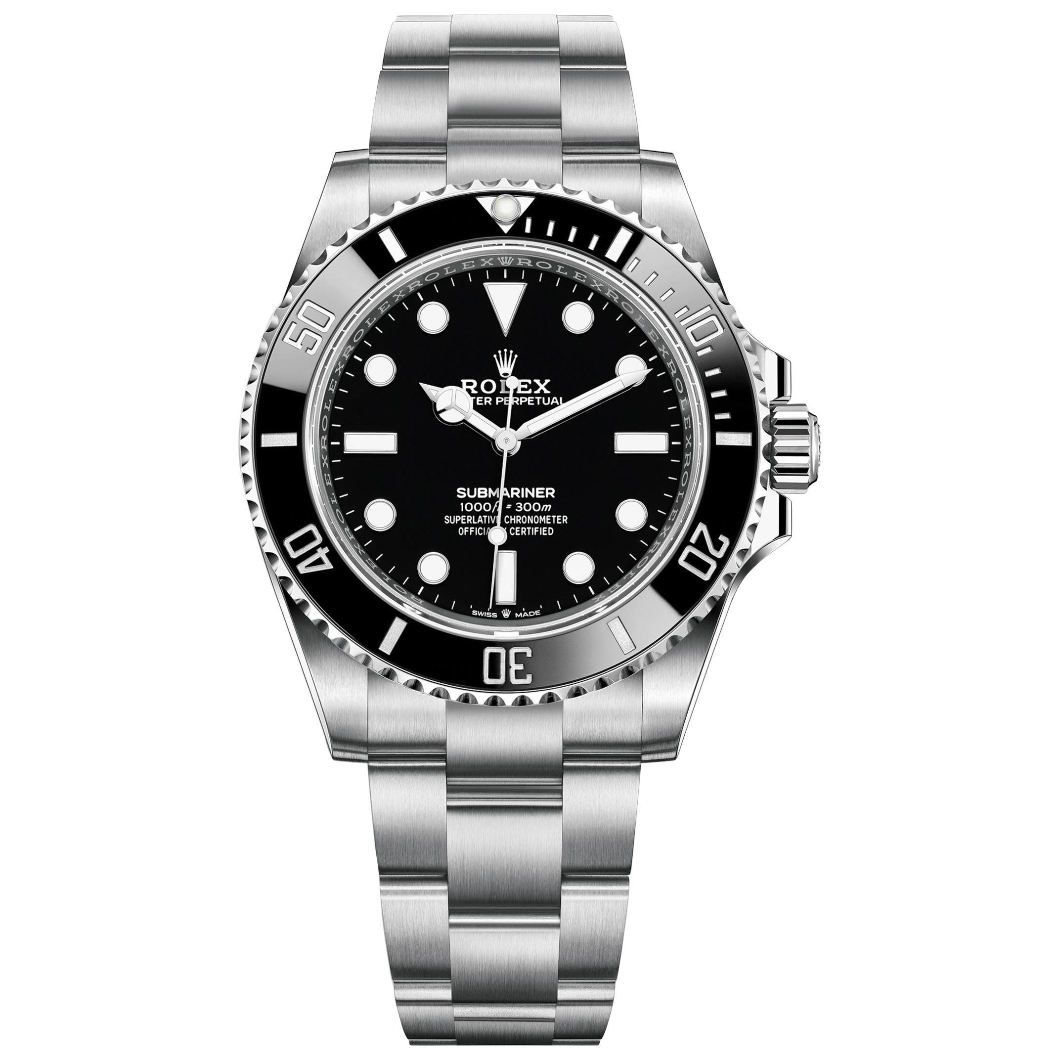 Rolex Submariner Black Dial Men's Diving Watch 124060-0001