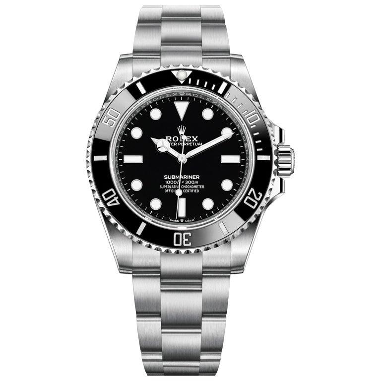 Rolex Submariner Black Dial Men's Diving Watch 124060-0001 For Sale