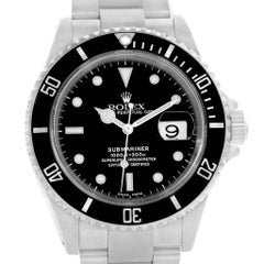 Rolex Submariner Black Dial Men's Watch 16610 Box Papers