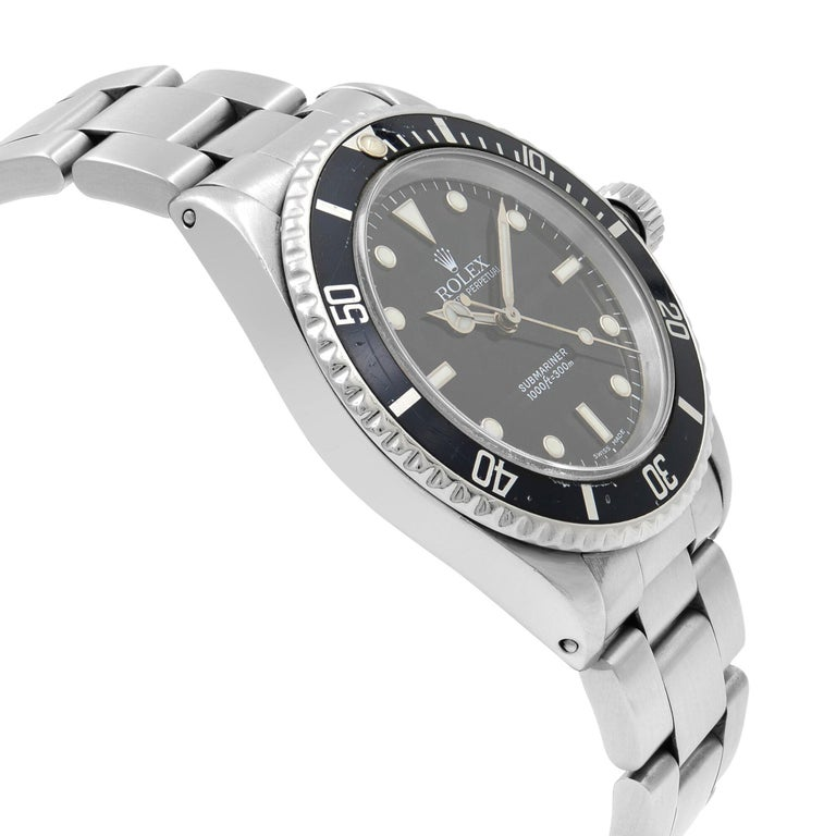 Rolex Submariner Black Dial No Date Stainless Steel Automatic Men's Watch 14060M In Fair Condition For Sale In New York, NY