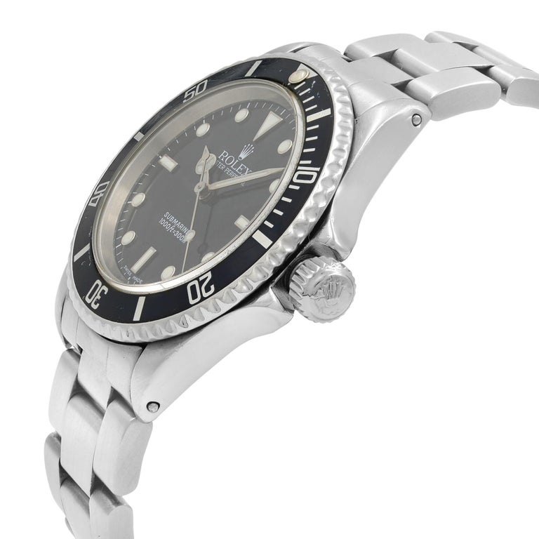 Rolex Submariner Black Dial No Date Stainless Steel Automatic Men's Watch 14060M For Sale 1