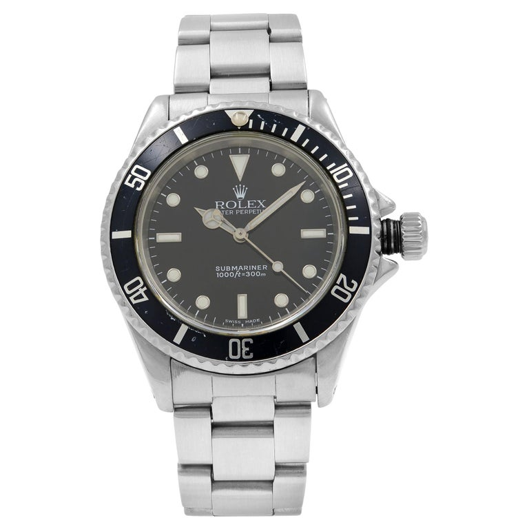 Rolex Submariner Black Dial No Date Stainless Steel Automatic Men's Watch 14060M For Sale