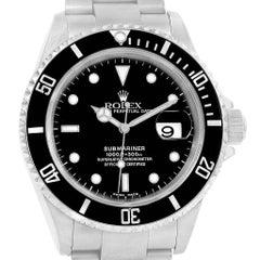 Rolex Submariner Black Dial Oyster Bracelet Men's Watch 16610 Box