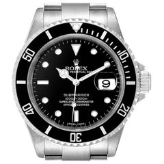 Rolex Submariner Black Dial Stainless Steel Men's Watch 16610 Box