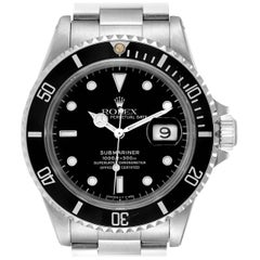 Rolex Submariner Black Dial Stainless Steel Men's Watch 16610
