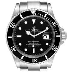 Rolex Submariner Black Dial Stainless Steel Men's Watch 16610