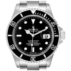 Rolex Submariner Black Dial Stainless Steel Men's Watch 16610 Tag