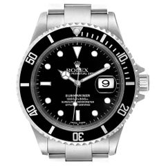 Rolex Submariner Black Dial Steel Men's Watch 16610 Box