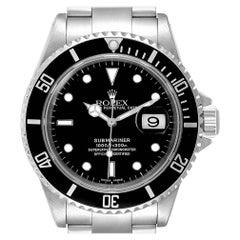 Rolex Submariner Black Dial Steel Men's Watch 16610 Box