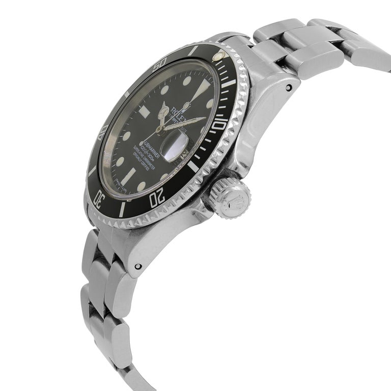 Rolex Submariner Black Matte Patina Dial Steel Automatic Men's 1983 Watch 16800 In Good Condition For Sale In New York, NY