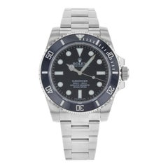 Rolex Submariner Black on Black No Date Steel Ceramic Automatic Men Watch 114060