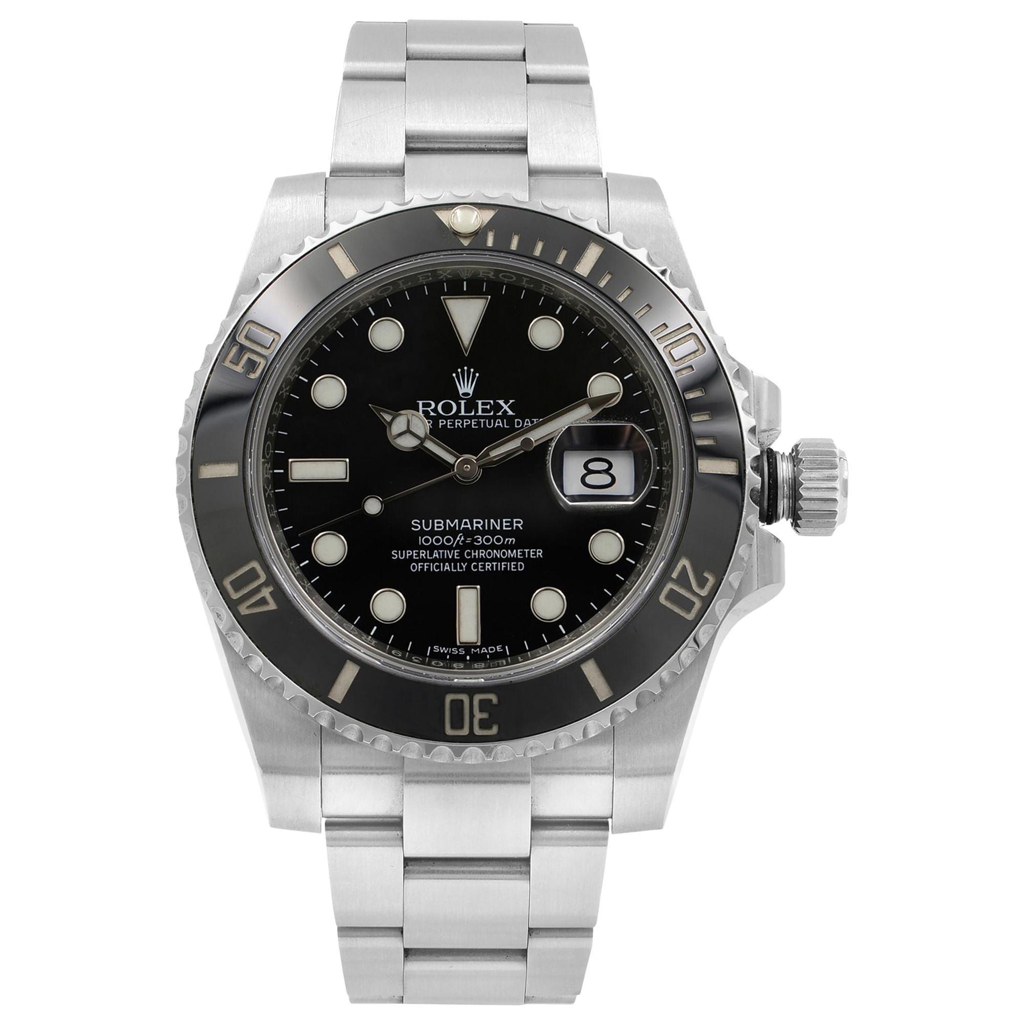 Rolex Submariner Black on Black Steel Ceramic Automatic Men's Watch 116610LN