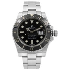 Rolex Submariner Black on Black Steel Ceramic Automatic Men's Watch 116610LN