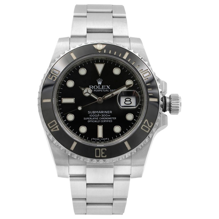 Rolex Submariner Black on Black Steel Ceramic Automatic Men's Watch 116610LN For Sale