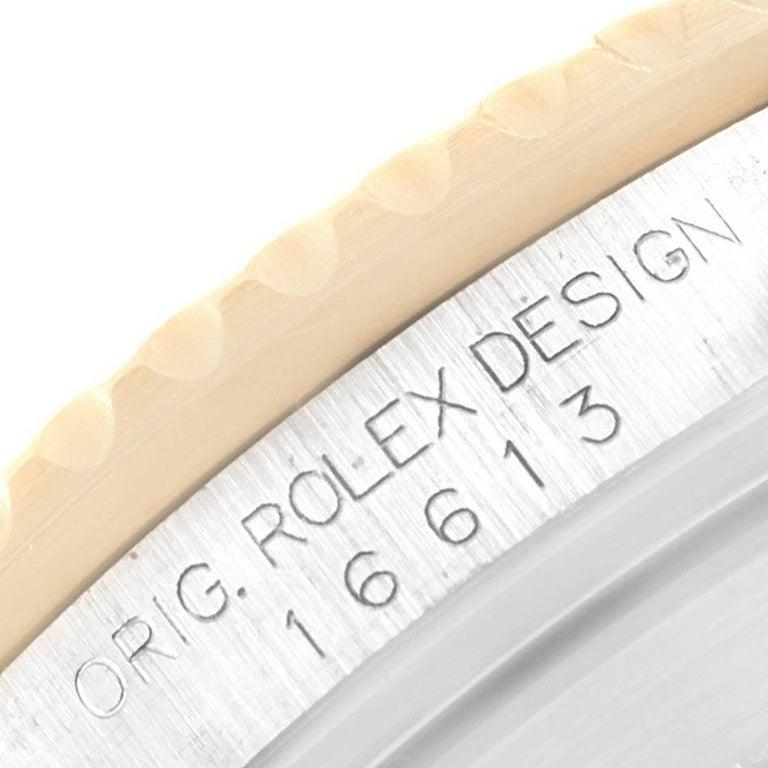Rolex Submariner Blue Dial Bezel Steel Yellow Gold Men's Watch 16613 For Sale 3