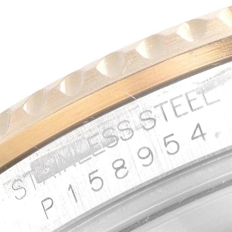 Rolex Submariner Blue Dial Bezel Steel Yellow Gold Men's Watch 16613 For Sale 4