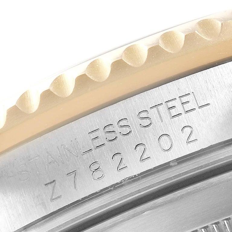 Rolex Submariner Blue Dial Bezel Steel Yellow Gold Men's Watch 16613 3
