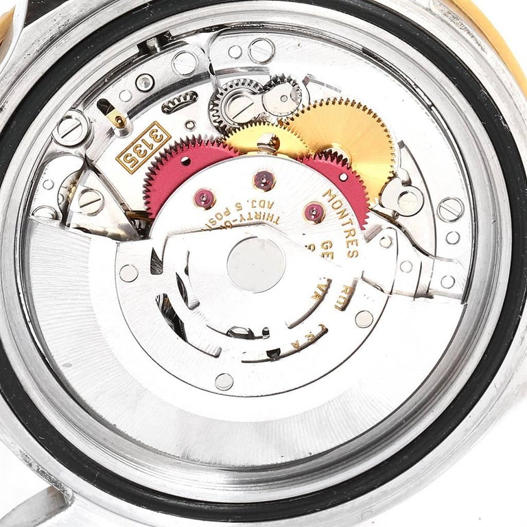 Rolex Submariner Blue Dial Bezel Steel Yellow Gold Men's Watch 16613 For Sale 5