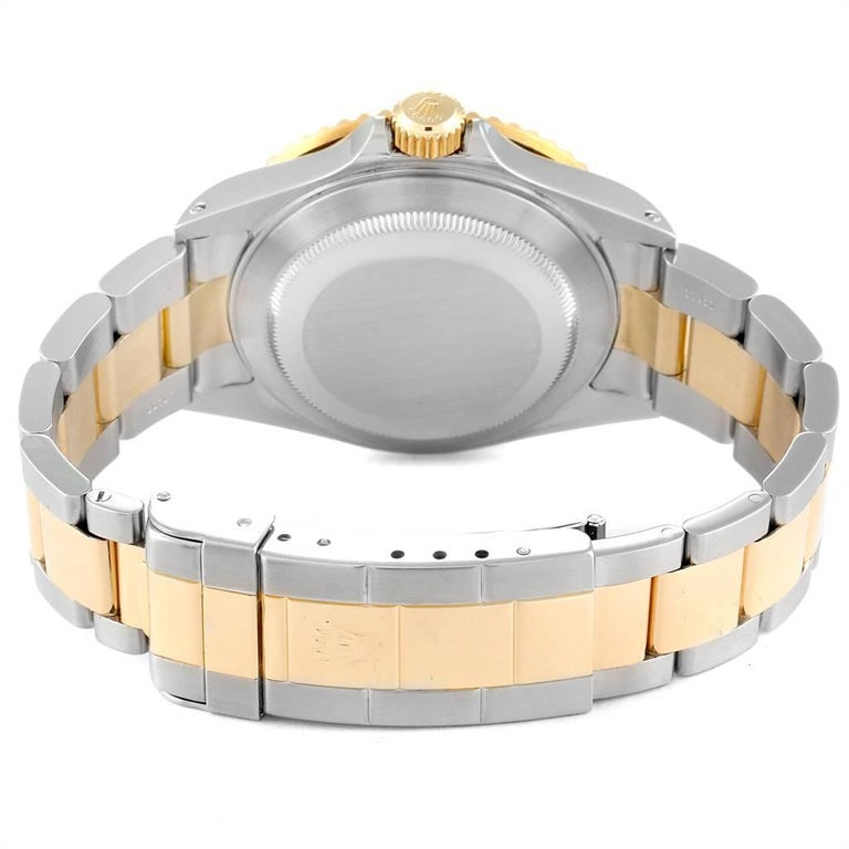 Rolex Submariner Blue Dial Bezel Steel Yellow Gold Men's Watch 16613 For Sale 6