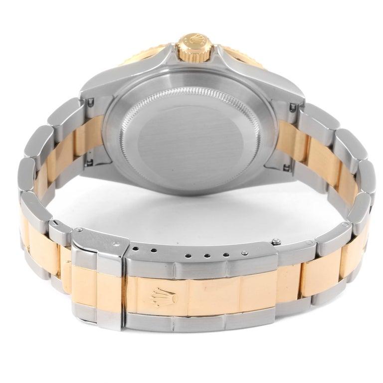 Rolex Submariner Blue Dial Bezel Steel Yellow Gold Men's Watch 16613 5