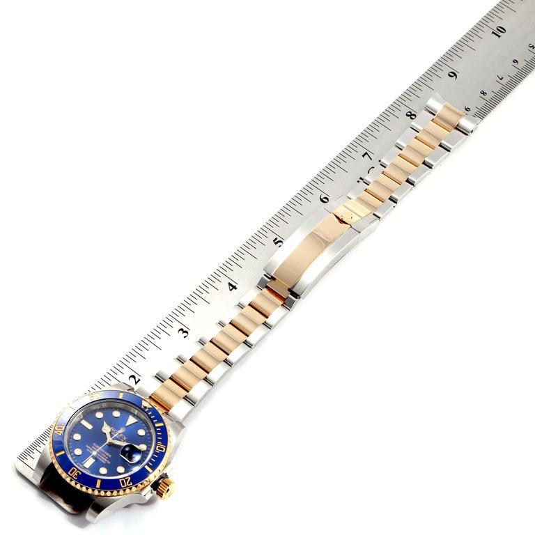 Rolex Submariner Blue Dial Steel Yellow Gold Men's Watch 116613 Box Card 7