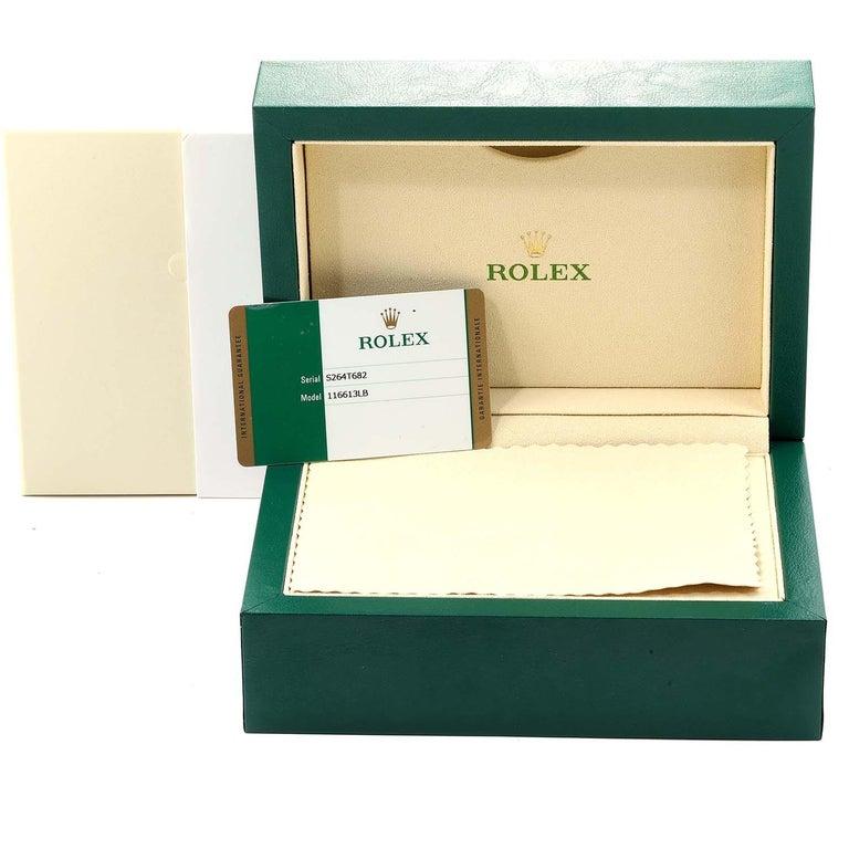 Rolex Submariner Blue Dial Steel Yellow Gold Men's Watch 116613 Box Card 8