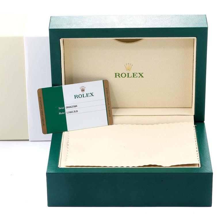 Rolex Submariner Blue Dial Steel Yellow Gold Men's Watch 116613 Box Card 9