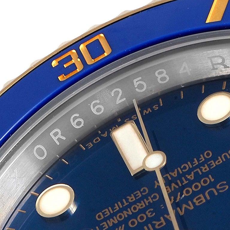 Rolex Submariner Blue Dial Steel Yellow Gold Men's Watch 116613 Box Card 3