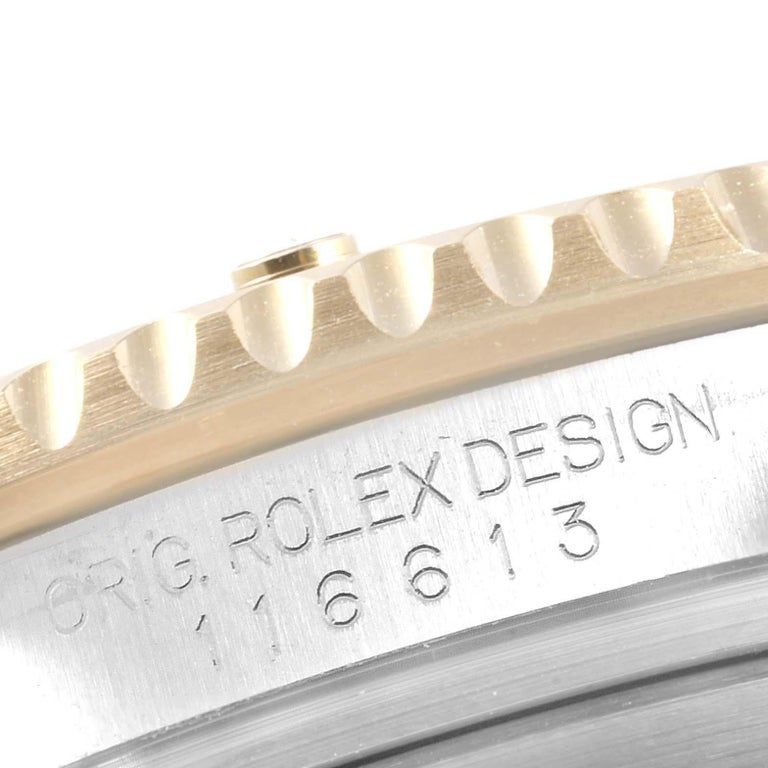 Rolex Submariner Blue Dial Steel Yellow Gold Men's Watch 116613 Box Card 4