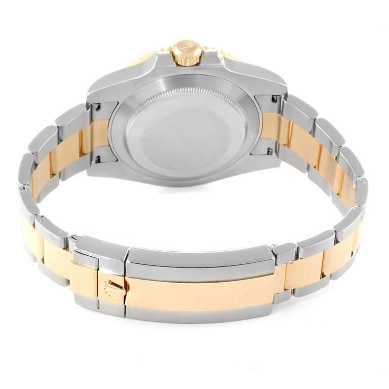 Rolex Submariner Blue Dial Steel Yellow Gold Men's Watch 116613 Box Card 6
