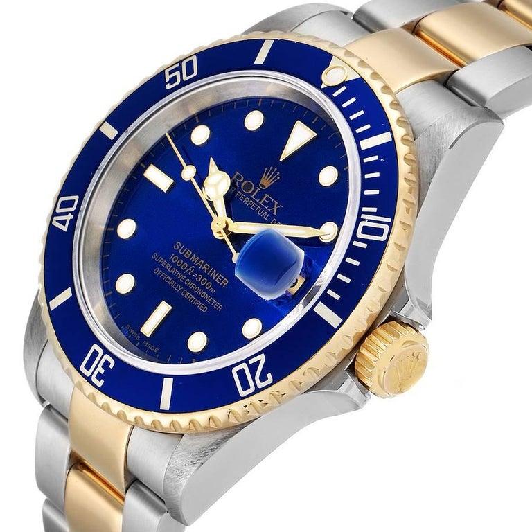 Rolex Submariner Blue Dial Steel Yellow Gold Men's Watch 16613 2