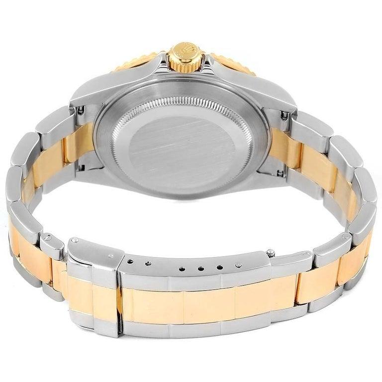 Rolex Submariner Blue Dial Steel Yellow Gold Men's Watch 16613 6